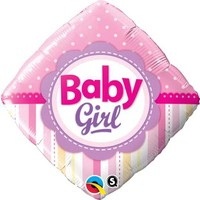 Baby Girl Bunting Foil Balloon - (BNE Delivery)