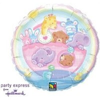 Baby Ark Rainbow Foil Balloon - (BNE Delivery)