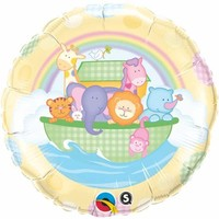 Baby Yellow Ark Foil Balloon - (BNE Delivery)