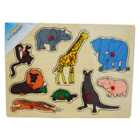 Bright Animals Wooden Puzzle