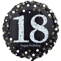 Sparkling 18th Birthday Foil Balloon- (BNE Delivery)