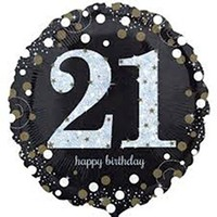 Sparkling 21st Birthday Foil Balloon- (BNE Delivery)