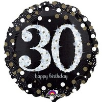 Sparkling 30th Birthday Foil Balloon- (BNE Delivery)