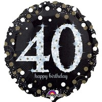Sparkling 40th Birthday Foil Balloon- (BNE Delivery)