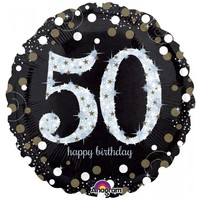 Sparkling 50th Birthday Foil Balloon- (BNE Delivery)