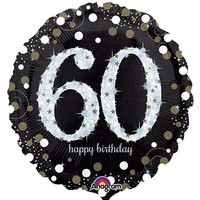 Sparkling 60th Birthday Foil Balloon- (BNE Delivery)