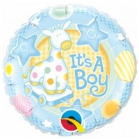 Baby Boy Foil Balloon - (BNE Delivery)