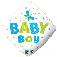 Baby Boy Snapdragon and Dots Foil Balloon - (BNE Delivery)