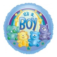It's a Baby Boy Animals Foil Balloon - (BNE Delivery)