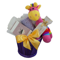 Snuggle Time Pink Giraffe Baby Gift