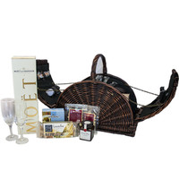 Gourmet Picnic Basket with Moet