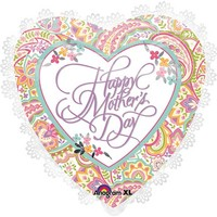 Mother's Day Lace Foil Balloon - (BNE Delivery)