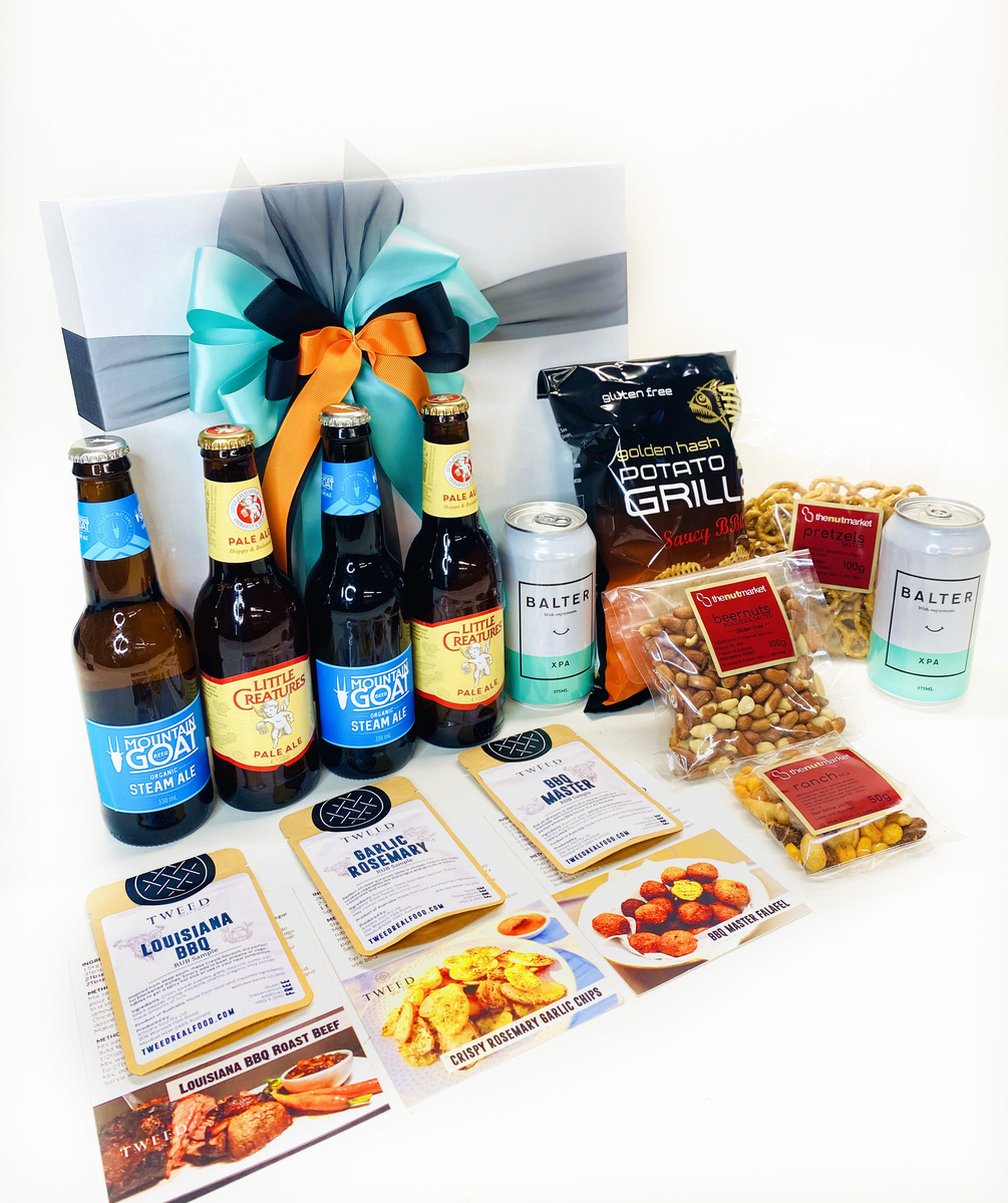 Craft Beers and BBQ |Gift Hamper |Beer & Snacks For Him product photo