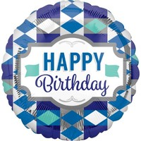 Blue Happy Birthday Foil Balloon (BNE Delivery)