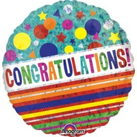 Bright Congratulations Foil Balloon - (BNE Delivery)