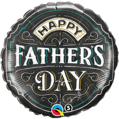 Happy Father's Day Chalk Balloon- (BNE Delivery)