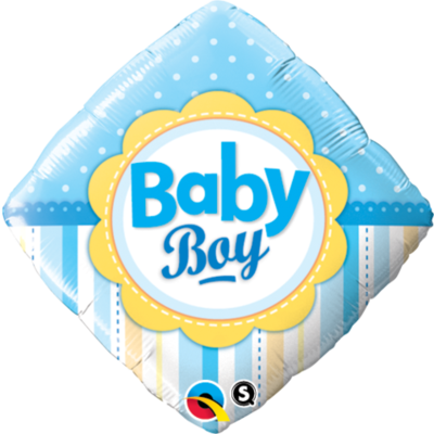 Baby Boy Bunting Foil Balloon - (BNE Delivery)