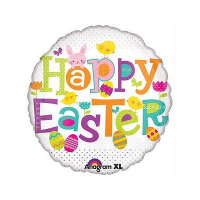 Happy Easter Foil Balloon - (BNE Delivery)